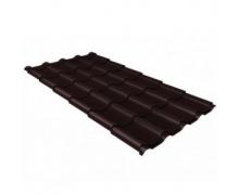 Металлочерепица камея 0,5 Polydexter Matt RAL 8017 шоколад