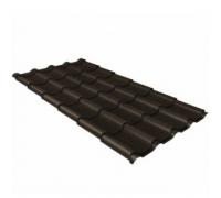 Металлочерепица камея 0,5 Polydexter Matt RR 32 темно-коричневый