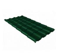 Металлочерепица камея 0,5 Quarzit lite RAL 6005 зеленый мох