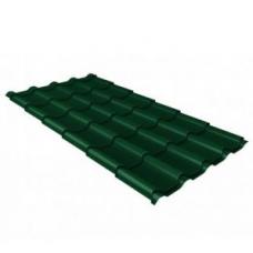 Металлочерепица камея 0,5 Quarzit RAL 6005 зеленый мох