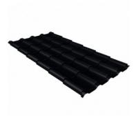Металлочерепица камея 0,5 Velur20 RAL 9005 черный