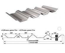 Перфорированный лист Т50-1056-0,8 Оцинкованный