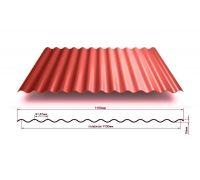 Профнастил окрашенный МП18-1100-0.65 цена за м2