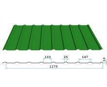 Профнастил окрашенный НС13-1170-0.4 цена за пог.м