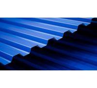 Профнастил окрашенный С21-1000-0.4 (Синий RAL 5005)