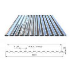 Профнастил оцинкованный МП18-1100-0.55 цена за м2