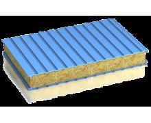 Сэндвич-панель стеновая минплита металл 0,6/0,6мм толщина 200мм
