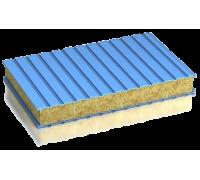Сэндвич-панель стеновая минплита металл 0,6/0,6мм толщина 100мм