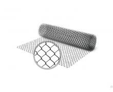 Сетка рабица оцинкованная / рулон: 2,0 Х 10 м, размер: 50*50 (д. 1,8)