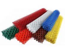 Сетка рабица с полимерным покрытием / рулон: 1,5 Х 10 м, размер: 55*55 (д. 2,5)