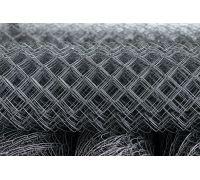 Сетка рабица стальная светлая / рулон: 2,0 Х 10 м, размер: 50*50 (д. 1,6)