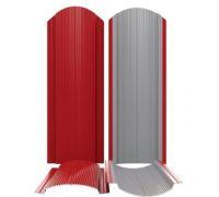 Штакетник (евроштакетник) фигурный полукруглый 110мм металлический для забора