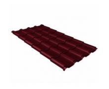 Металлочерепица камея 0,45 Drap RAL 3005 красное вино