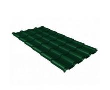Металлочерепица камея 0,45 PE RAL 6005 зеленый мох