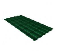Металлочерепица кредо 0,45 Drap RAL 6005 зеленый мох