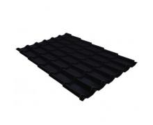 Металлочерепица классик 0,45 Drap RAL 9005 черный