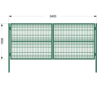 К 2С Ворота со сварной сеткой H 1,5м L 3,4м