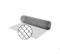 Сетка рабица оцинкованная / рулон: 2,0 Х 10 м, размер: 50*50 (д. 2,5)