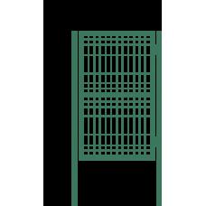 К 1С Калитка со сварной сеткой H 1,96м L 1,0м / М16 / 90