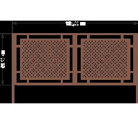 К 2С Ворота стандарт профиль H 1,5м L 3,4м