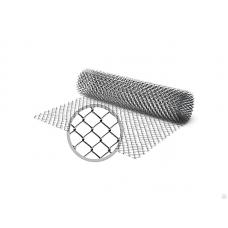 Сетка рабица оцинкованная / рулон: 2,0 Х 10 м, размер: 50*50 (д. 1,6)